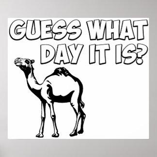 ¿Conjetura qué día es? Camello del día de chepa Impresiones