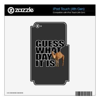 Conjetura qué día es camello del día de chepa iPod touch 4G calcomanía