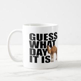 Conjetura qué día es camello del día de chepa taza