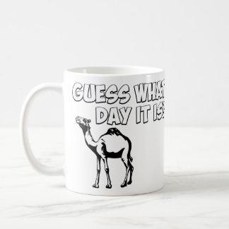 ¿Conjetura qué día es? Camello del día de chepa Tazas De Café