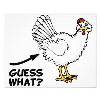 Conjetura qué extremo del pollo tarjetón
