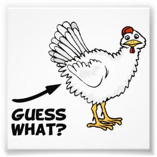Conjetura qué extremo del pollo fotografías