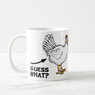 Conjetura qué extremo del pollo taza