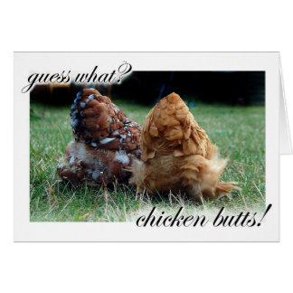 ¿Conjetura qué? ¡Extremos del pollo! Tarjeta De Felicitación