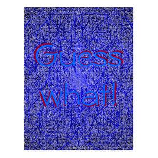 Conjetura qué postal azul de la paja