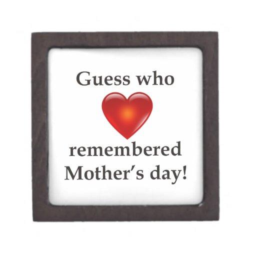 Conjetura que recordaba día de madres cajas de recuerdo de calidad