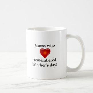 Conjetura que recordaba día de madres taza clásica