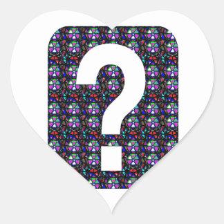 CONJETURE el arte NVN543 del símbolo de la Pegatina En Forma De Corazón