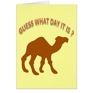 Conjeture qué día es tarjeta de cumpleaños del hum