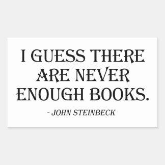 Conjeturo que nunca hay bastantes libros pegatina rectangular