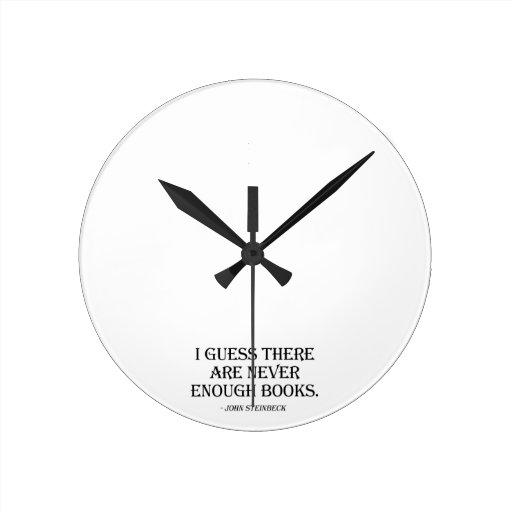 Conjeturo que nunca hay bastantes libros reloj de pared