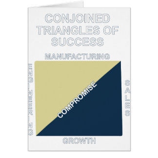 Conjoined triangles of success card