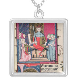 Conjugal Law, an adulterous wife appearing Silver Plated Necklace