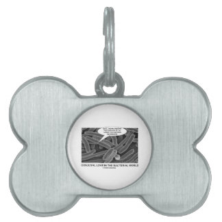 Conjugal Love In The Bacterial World Microscope Pet ID Tag