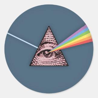 Conjunctivitis Illuminatis Classic Round Sticker