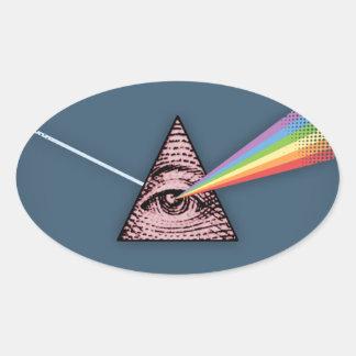 Conjunctivitis Illuminatis Oval Sticker