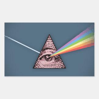 Conjunctivitis Illuminatis Rectangular Sticker