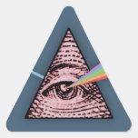 Conjunctivitis Illuminatis Triangle Sticker