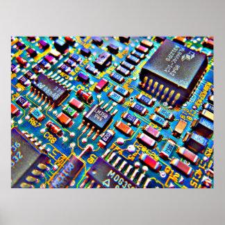 Conjunto de circuitos hermoso póster