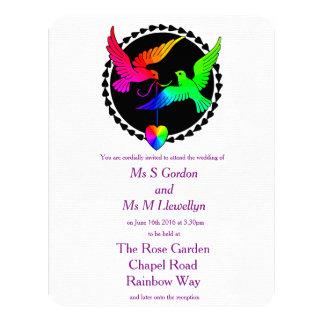 Conjunto de la invitación lesbiana del boda del