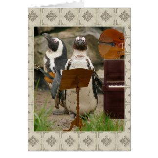 Conjunto de la secuencia del pingüino tarjeta de felicitación