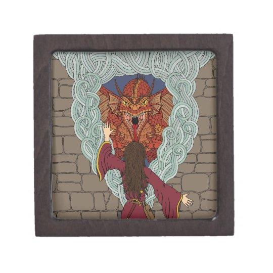 Conjuración del dragón caja de joyas de calidad