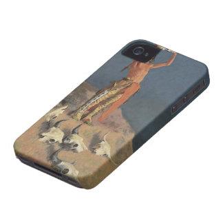 Conjuración detrás del búfalo de Federico Remingto iPhone 4 Case-Mate Coberturas