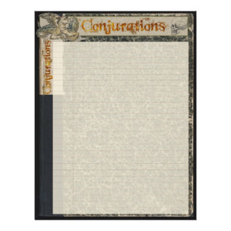 """CONJURATIONS Wizardry Paper 8.5"""" X 11"""" Flyer"""