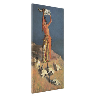 Conjuring Back the Buffalo by Frederic Remington Canvas Print