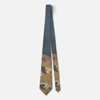 Conjuring Back the Buffalo by Frederic Remington Neck Tie