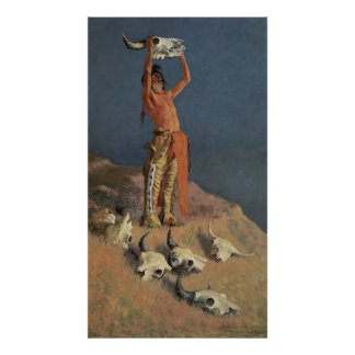 Conjuring Back the Buffalo by Frederic Remington Poster