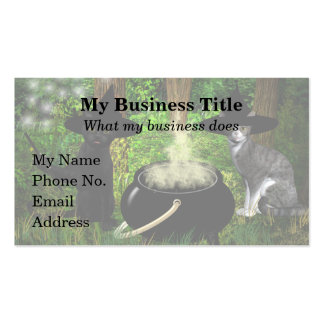 Conjuring Cats Business Card Templates