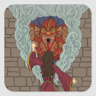 Conjuring the Dragon Square Sticker