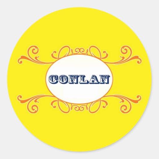 Conlan Classic Round Sticker