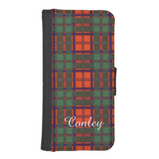 Conley clan Plaid Scottish kilt tartan iPhone 5 Wallets