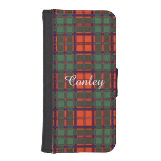 Conley clan Plaid Scottish kilt tartan Phone Wallet Case
