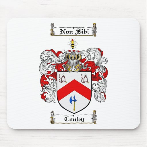 CONLEY FAMILY CREST -  CONLEY COAT OF ARMS MOUSE PAD