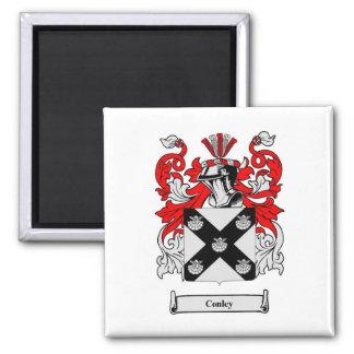 Conley Heraldry Family Crest Square Magnet