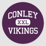 Conley - Vikings - High - Greenville Round Stickers