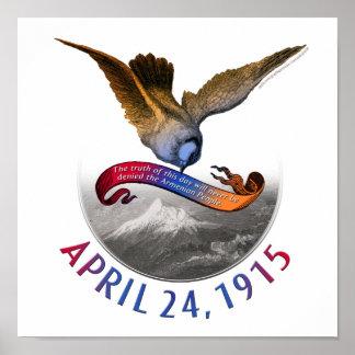 Conmemoración armenia del genocidio poster