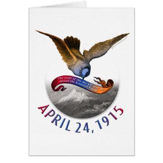 Conmemoración armenia del genocidio tarjeta de felicitación