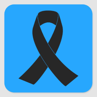Conmemoración, cinta negra de luto de la pegatina cuadrada