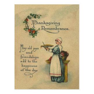 Conmemoración de la acción de gracias postales