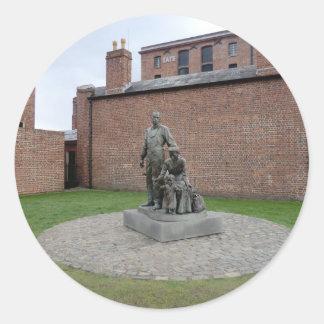 Conmemoración de los emigrantes de Liverpool Etiquetas Redondas