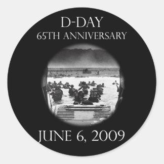 Conmemoración del aniversario del día D 65.o Pegatina Redonda