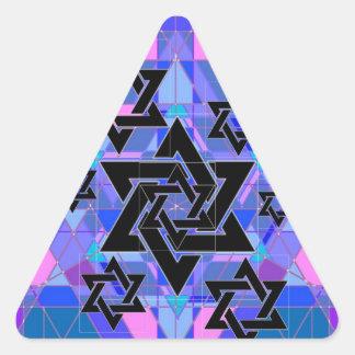 Conmemoración del holocausto pegatina triangular