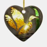 Conmemoración en el ornamento del vitral ornamento de navidad