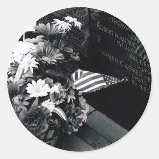 Conmemoración en el pegatina del monumento de