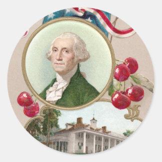 Conmemorar a George Washington Pegatina Redonda