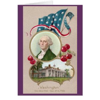 Conmemorar a George Washington Tarjeta De Felicitación
